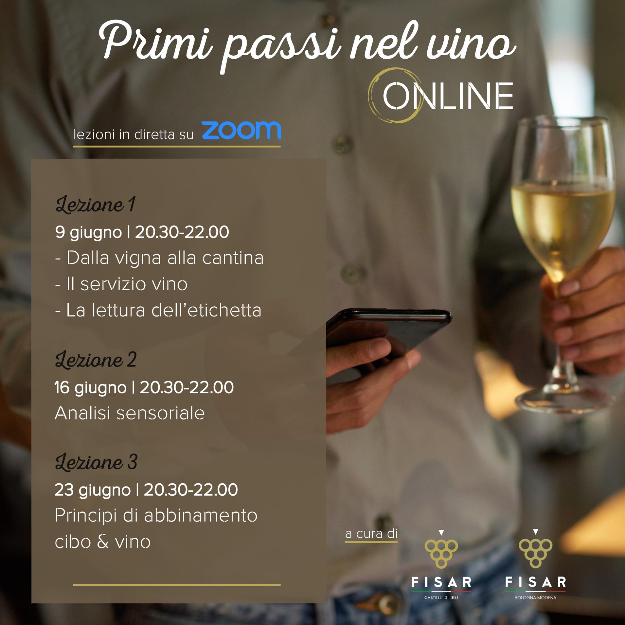 Primi passi nel vino… online
