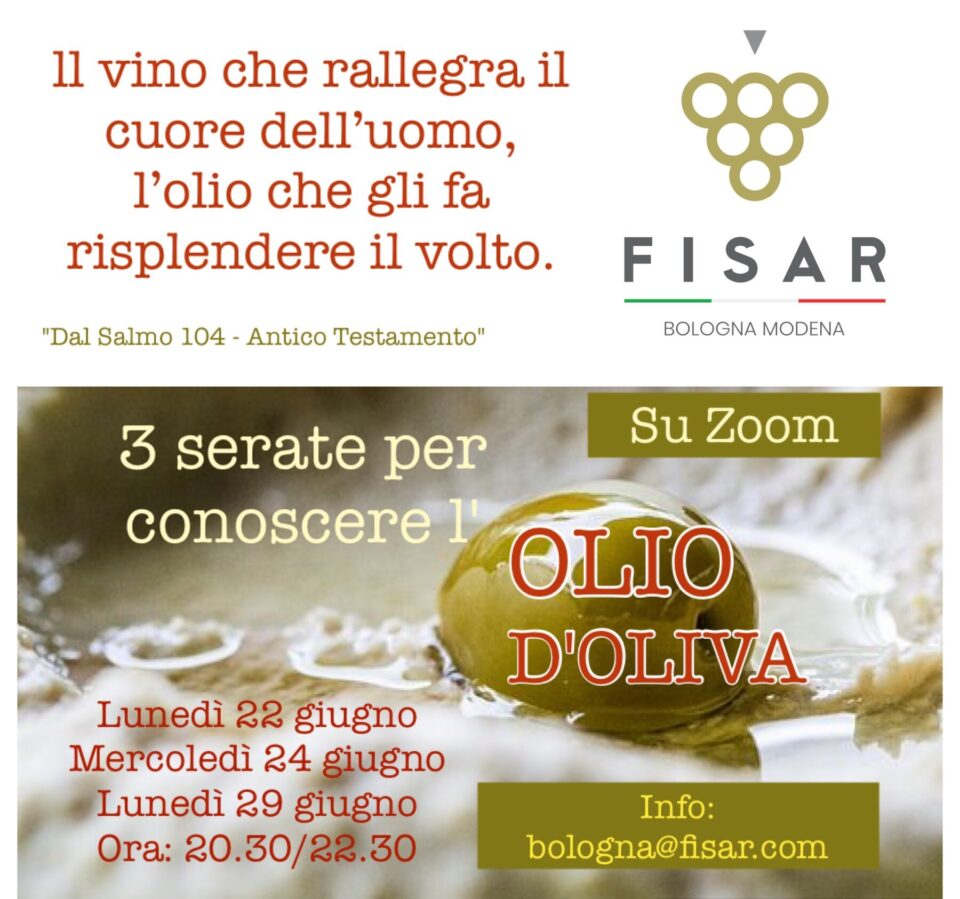 Tre incontri per conoscere l'olio d'oliva