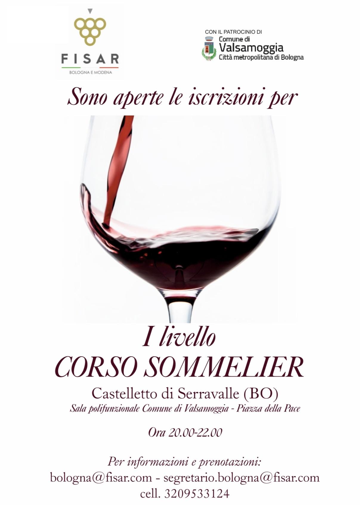Corso sommelier di 1° livello a Castelletto di Serravalle – Valsamoggia (Bo)